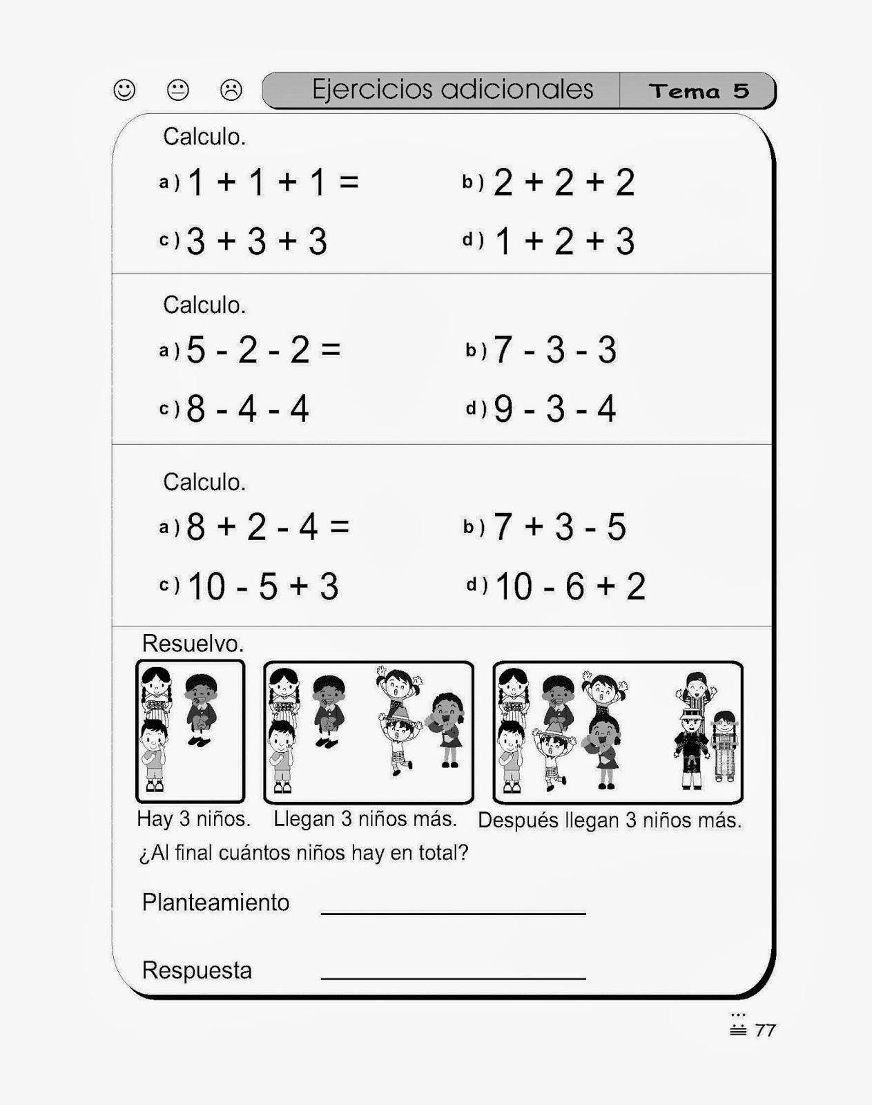 Ejercicios de Matematica para Primer grado | Material para maestros ...
