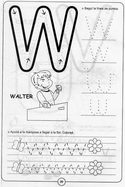 Delinear Y Colorear La Letra W Material Para Maestros