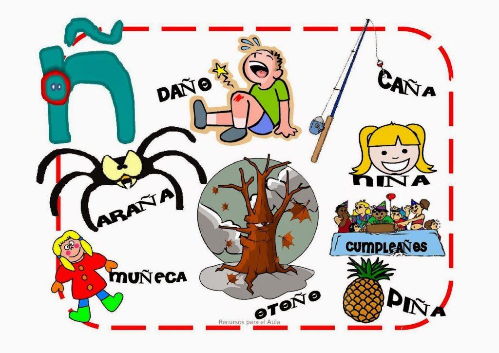 Palabras Con Ñ Para Niños Con Imágenes Para Imprimir
