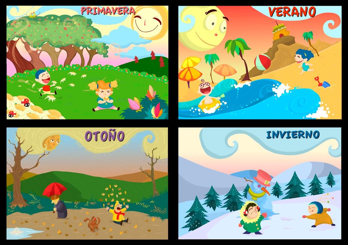 Las estaciones del Año para Colorear | Material para maestros ...
