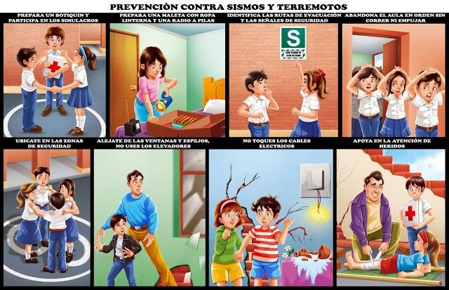 Como prevenir sismos y terremotos material para maestros - Que pasa si se rompe un espejo en casa ...