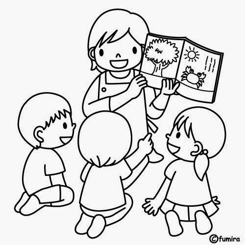 Dibujos de Niños estudiando para colorear | Material para maestros ...