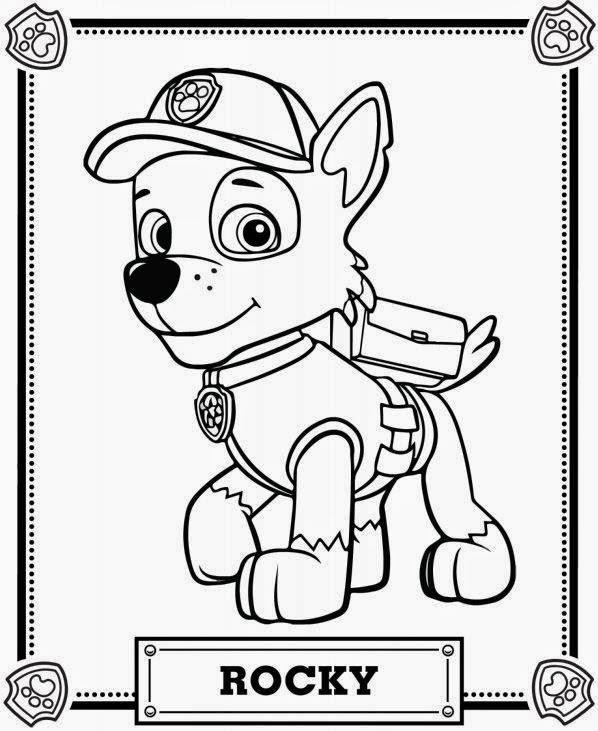 Imágenes Y Dibujos De Paw Patrol Para Imprimir Y Colorear Material