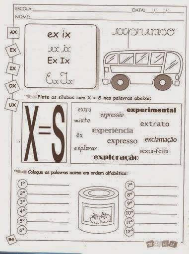 ax-ex-ix-ox-ux-pintar-sílabas