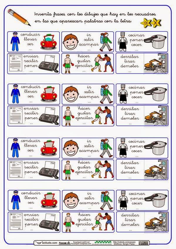 Palabras Y Frases Con X Lectoescritura Material Para