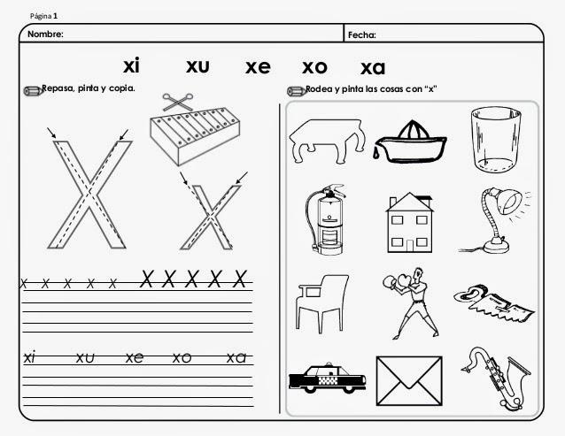 Palabras Con Ax Ex Ix Ox Ux En Español Con Imágenes Para Imprimir