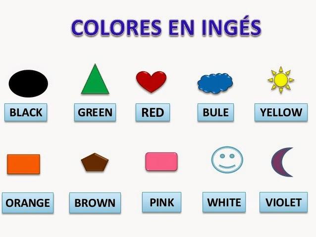 Los Colores En Ingles Y Español Para Niños Material Para Maestros