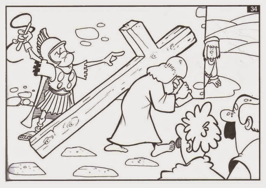 dibujos de semana santa para colorear 0111 | Material para