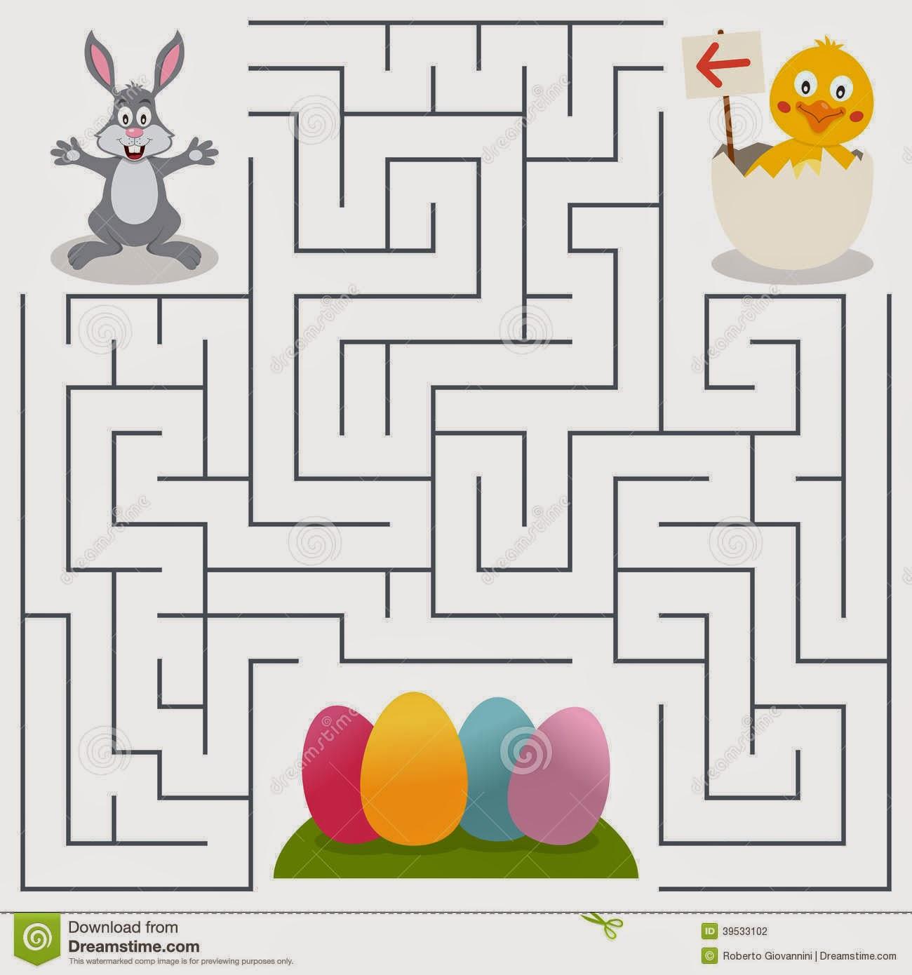 laberinto-de-bunny-rabbit-y-de-los-huevos-de-pascua-para-los-niños