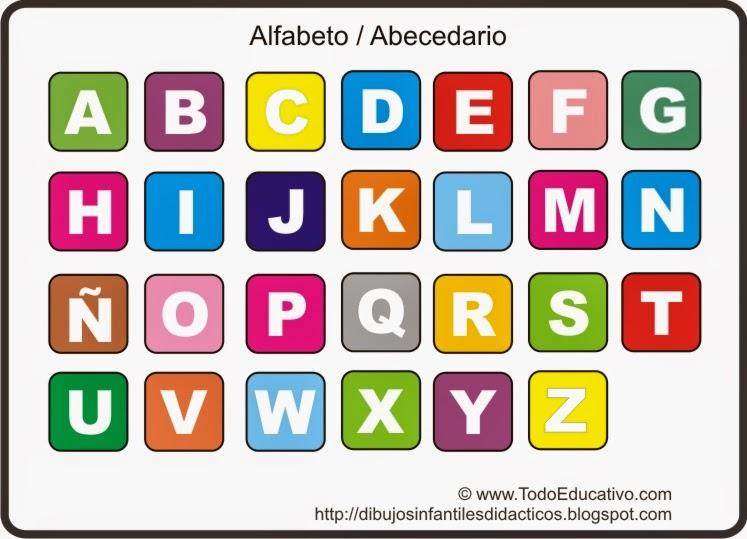 el abecedario imágenes para imprimir colorear y trazar material