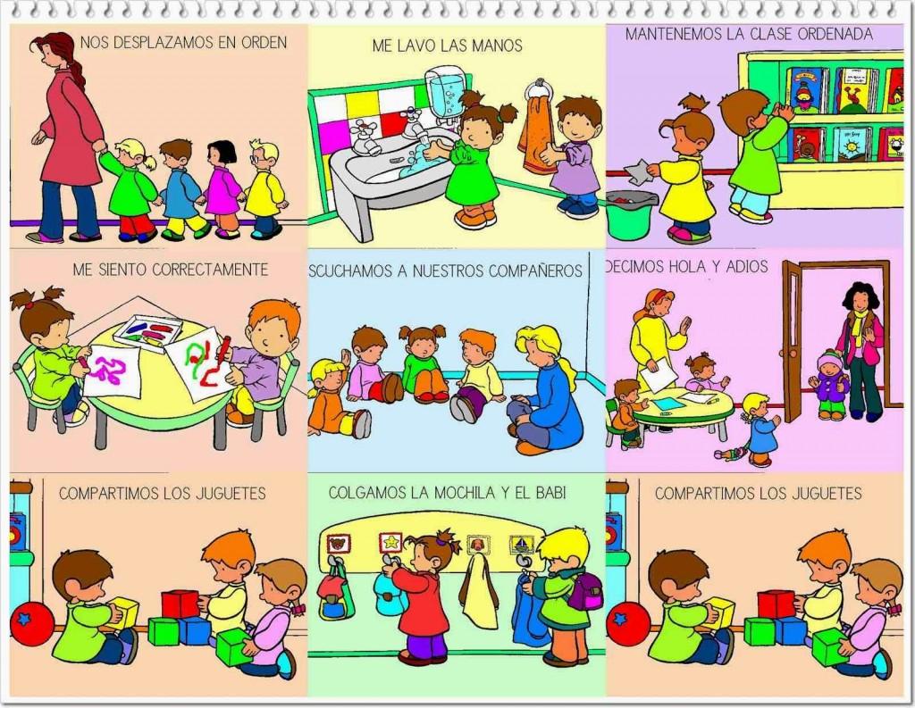 Normas de convivencia en el aula im genes para imprimir - Con las manos en tu casa ...