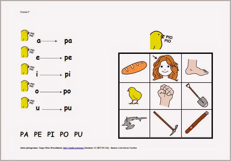 Fonema P imágenes para imprimir | Material para maestros ...