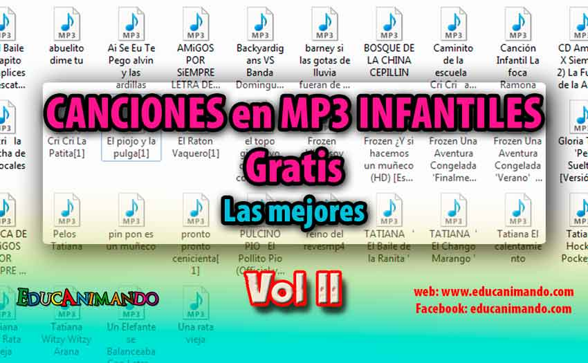 descargar pack de canciones infantiles mp3