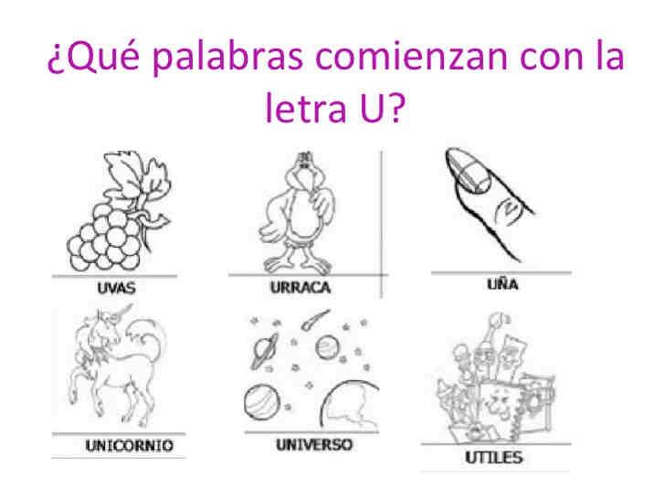 imagenes de objetos con comienzan con u1