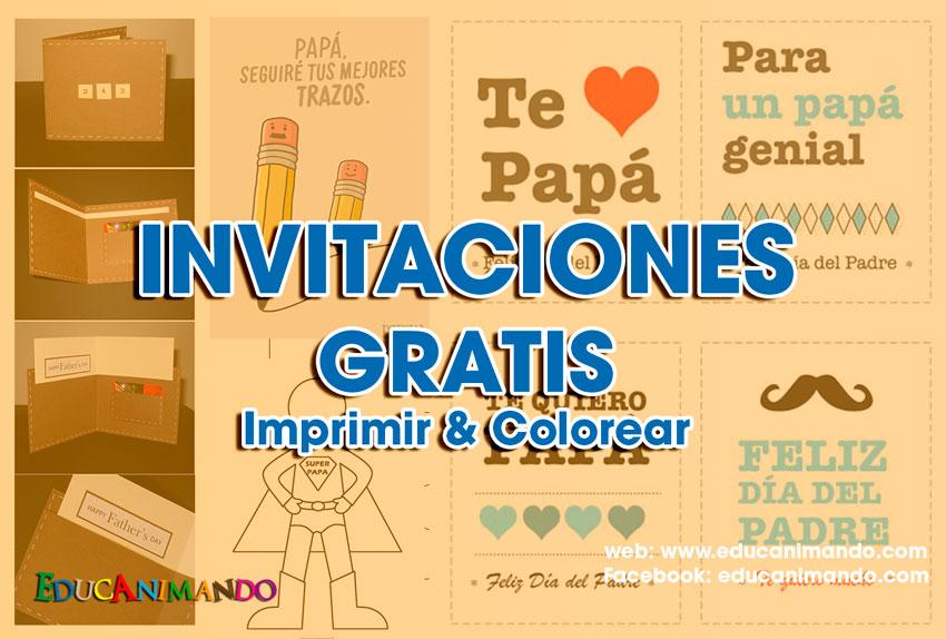 Moldes De Tarjetas De Invitación Para El Día Del Padre