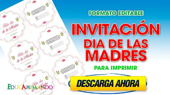 Invitaciones Dia De Las Madres Para Personalizar Material
