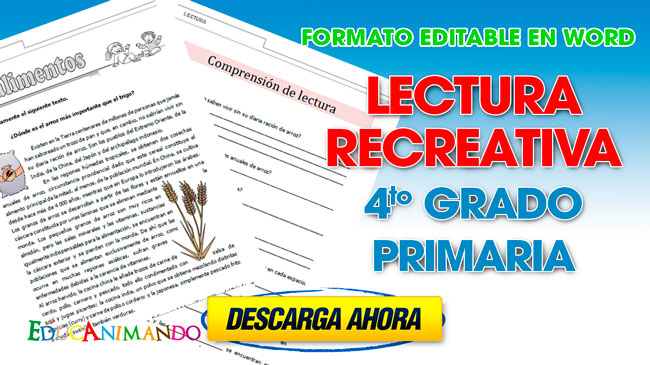 Lectura recreativa 4to grado primaria | Material para ...